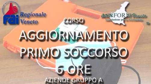 CORSO DI AGGIORNAMENTO AL PRIMO SOCCORSO AZIENDALE (AZIENDE GRUPPO A – 6 ORE)